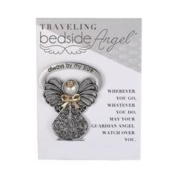 Bedside Angel Plaque angel statue, angel plaque, angel figurine, silver angel, prayer angel, angel for nightstand, nightstand angel