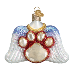 Beloved Pet Glass Memorial Ornament