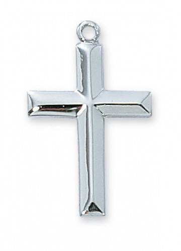 Beveled Cross with Chain