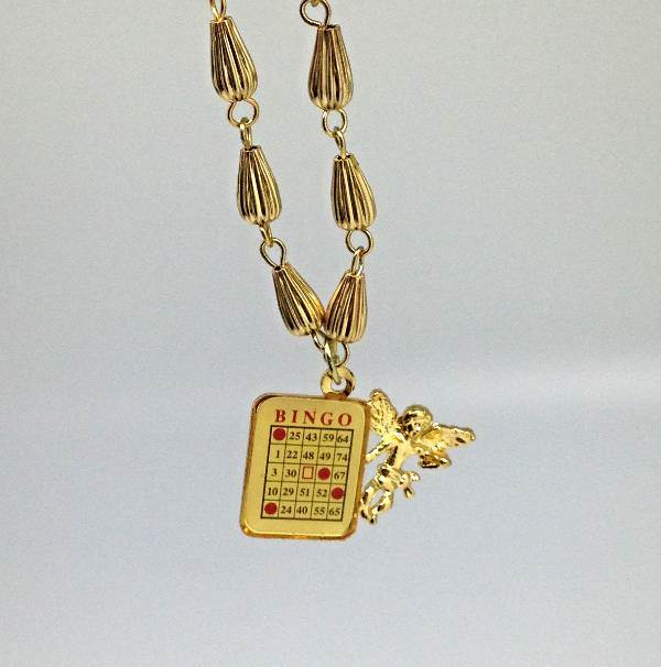 Bingo-Guardian Angel Charm Necklace/6 PK