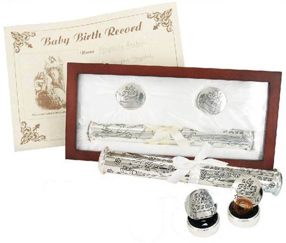 Birth Certificate Gift Set