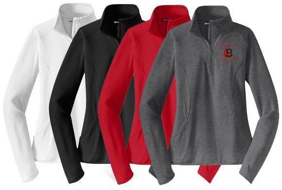 Bishop Dubourg Ladies 1/4 Zip Performance Pullover - PTDBQZPL