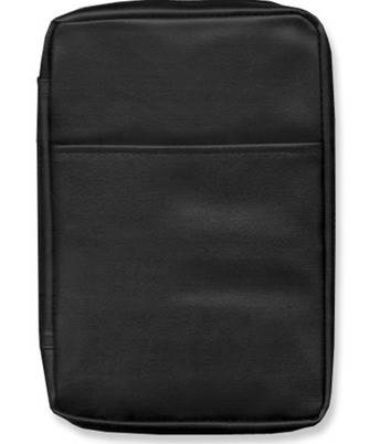 Black Lux-Leather Bible Cover, Large