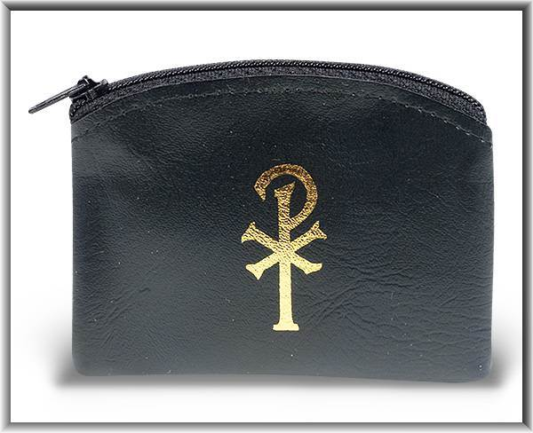 Black Zipper Rosary Case