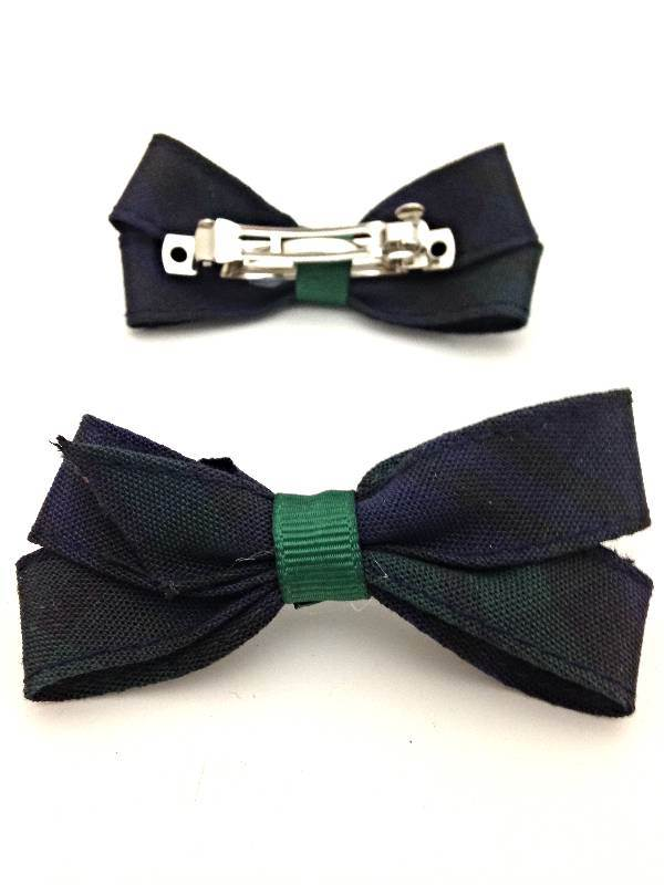 Blackwatch Pigtail Bows, Set of 2
