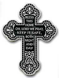 'Bless This Home' Pewter Wall Cross