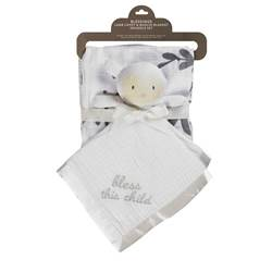 Bless this Child Christening Swaddle Gift Set