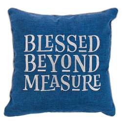 Blessed Beyond Measure Large Pillow