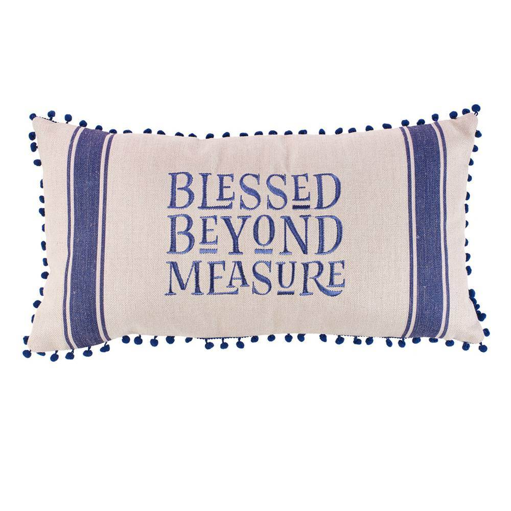 Blessed Beyond Measure Oblong Pillow