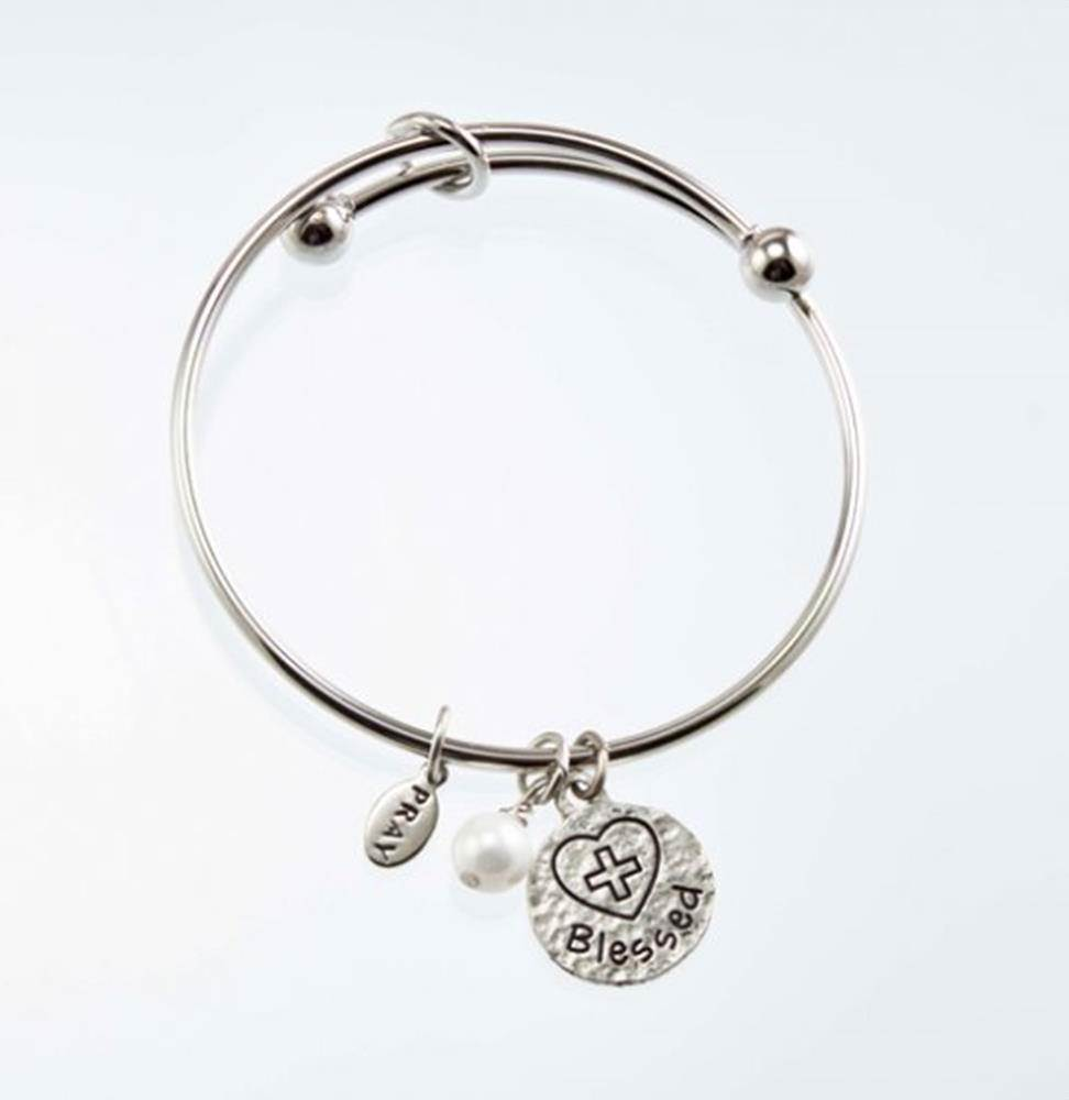 Blessed First Communion Bangle Bracelet