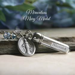 Blessed Message in a Bottle Necklace