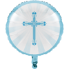 "Blessings Blue 18"" Metallic Balloon Blessings Blue, balloon, metallic balloon, uninflated, sacramental party supplies, party decorations, communion balloon, baptism, confiramation, 042223"