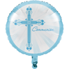 "Blessings Blue Communion 18"" Metallic Balloon"