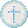Blessings Blue Dessert Plates