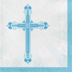 Blessings Blue Luncheon Napkins 36/pkg