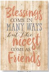 Blessings Come in Many Ways Easel Plaque
