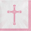 Blessings Pink Beverage Napkins 36/pkg