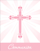 Blessings Pink Communion Invitation 25/pkg invitations, blue, cross, communion, holy eucharist, invites,  your invited, sacramental, special occasion.890223B