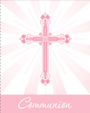Blessings Pink Communion Invitation 25/pkg