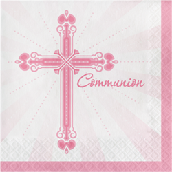 Blessings Pink Communion Luncheon Napkins 36/pkg