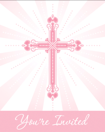Blessings Pink Invitation 25/pkg