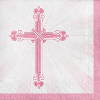 Blessings Pink Luncheon Napkins 36/pkg