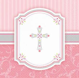 Pink Napkins first communion partyware, pink partyware, girl first communion , girl first communion party, first communion party, paper products, paper napkins, pink napkins, 503847, 513847