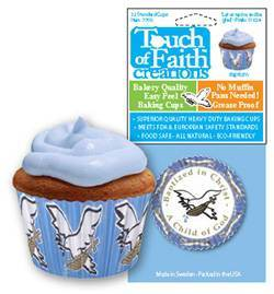 Blue Baptism Baking Cups