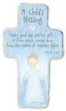 Blue Childs Blessing Cross