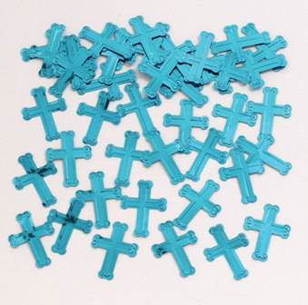 Blue Crosses Confetti Bag