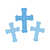 Blue Foil Cross Cutouts