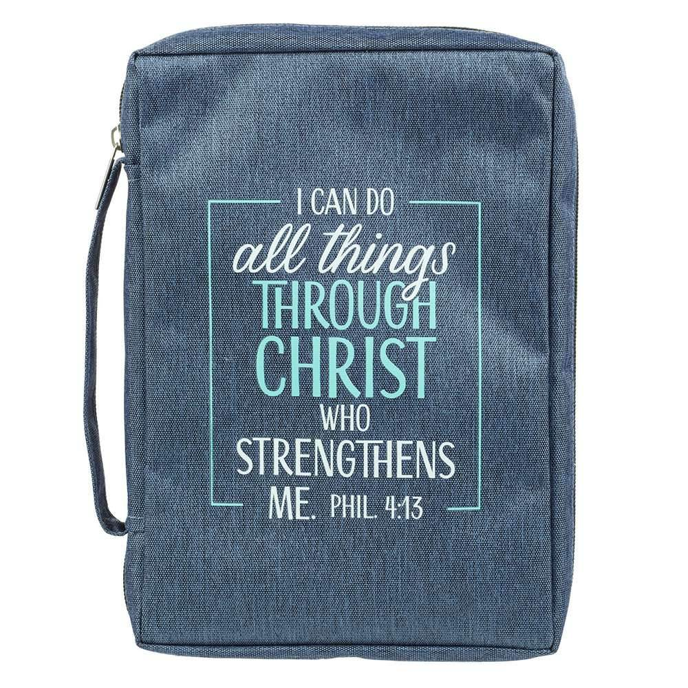 Blue I Can Do All Things Bible Cover