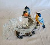 Bluebirds Candy Dish with Lid | CATHOLIC CLOSEOUT