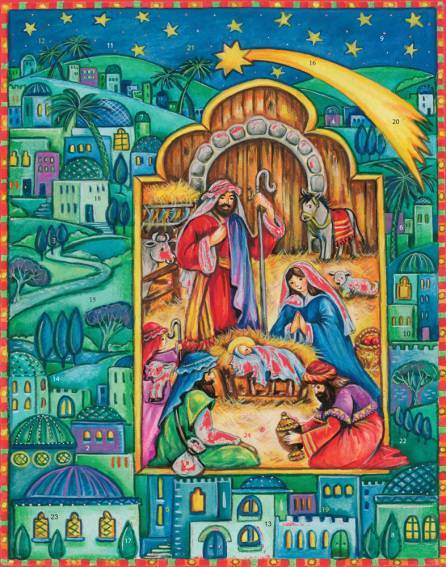 Born in Bethlehem Glitter Advent Calendar