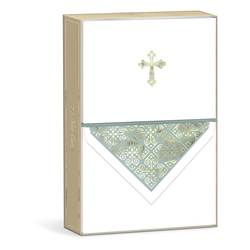 Boxed Note Cards w/Embossed Cross 10/box