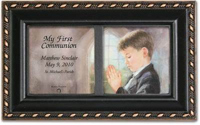 Boys Personalized First Communion Box