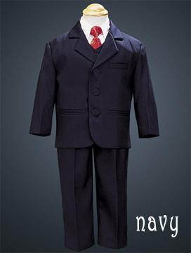 Boys 5 Piece Suit Khaki