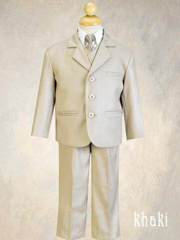 Boys 5 Piece Suit Olive