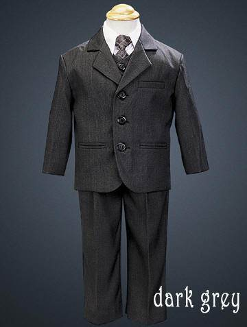 Boys 5 Piece Suit Black