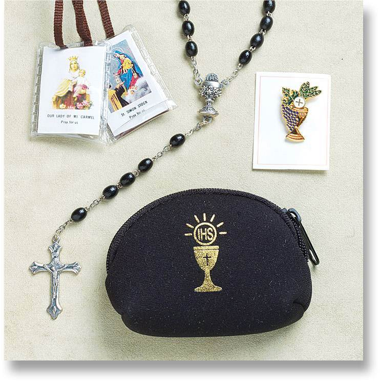 Boys Communion Rosary Pouch Set