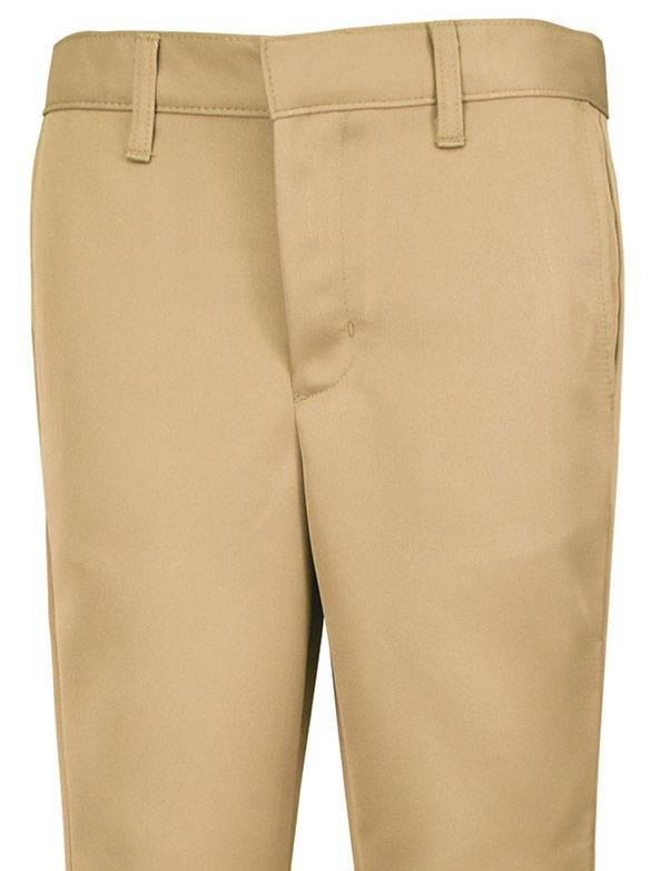 Boys Performance Flat Front Shorts Khaki