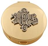 Brass Pyx with Pewter IHS Medallion