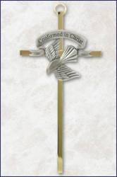 Brass and Pewter Confirmation Wall Cross