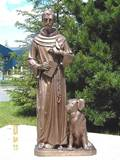 Bronze St. Francis of Assisi Outdoor Statue