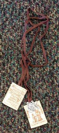 Brown Cloth Scapular with St. Benedict
