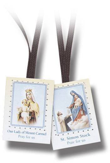 Brown Scapular Not Laminated