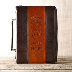 Brown Two-Tone Medium Bible Cover Jeremiah 29:11