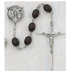 Brown Wood Rosary rosary, wood rosary, mission rosary, brown wood, sacramental rosary,137L-BR/F ,sacramental gift,