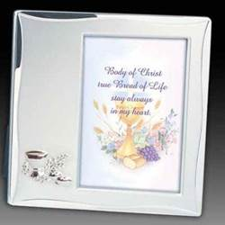 Brushed Satin Silver First Communion Frame