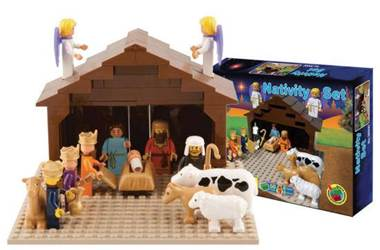 Building Block Nativity Set